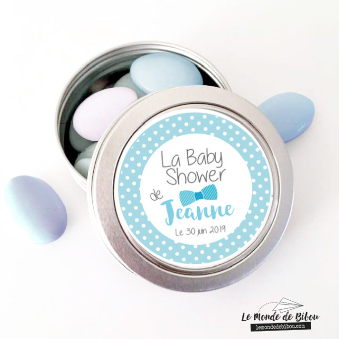 Cadeaux invités baby shower, thème nœud papillon