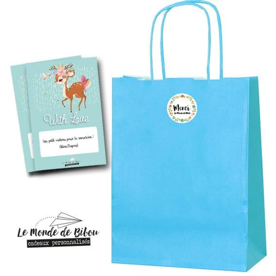Petit sac cadeau + carte personnalisée