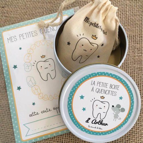 Kit à dents de lait et carte souvenir
