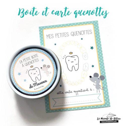 Boite range dents de lait et carte souvenir