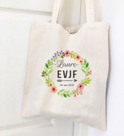 Lot de 8 tote bags pour EVJF
