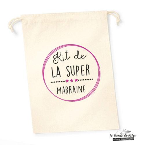 Sac pochon Kit de la Super Marraine