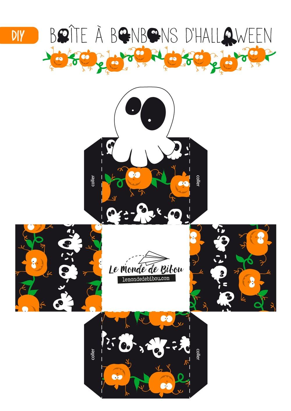Diy Boîte à Bonbons D Halloween à Imprimer Le Monde De