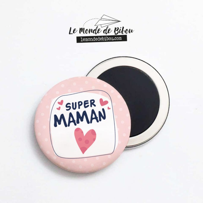 Magnet SUPER MAMAN coloré