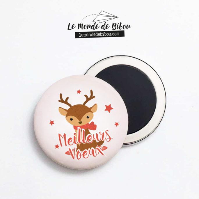 Magnet Renne de Noël - Meilleurs Voeux