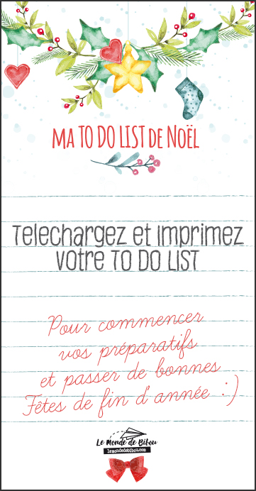 TO DO LIST DE NOEL