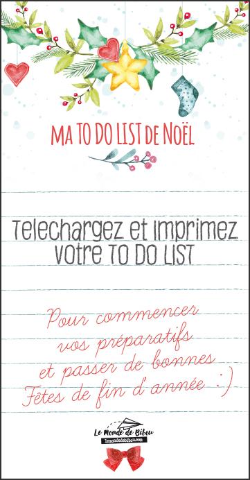 TO DO LIST DE NOEL