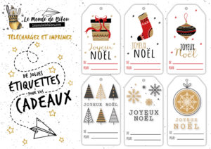 Les Etiquettes Cadeaux De Noel Le Monde De Bibou Cadeaux