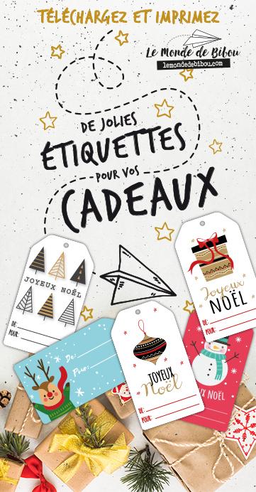 étiquettes cadeaux Le Monde de Bibou
