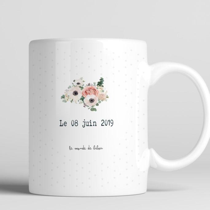 Mug personnalisé témoin de la mariée