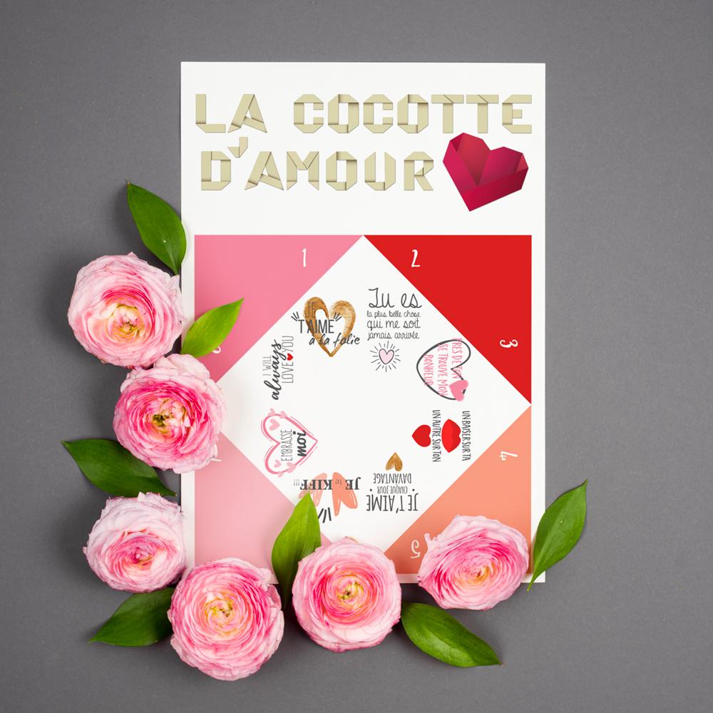cocotte en papier d'amour - le monde de bibou