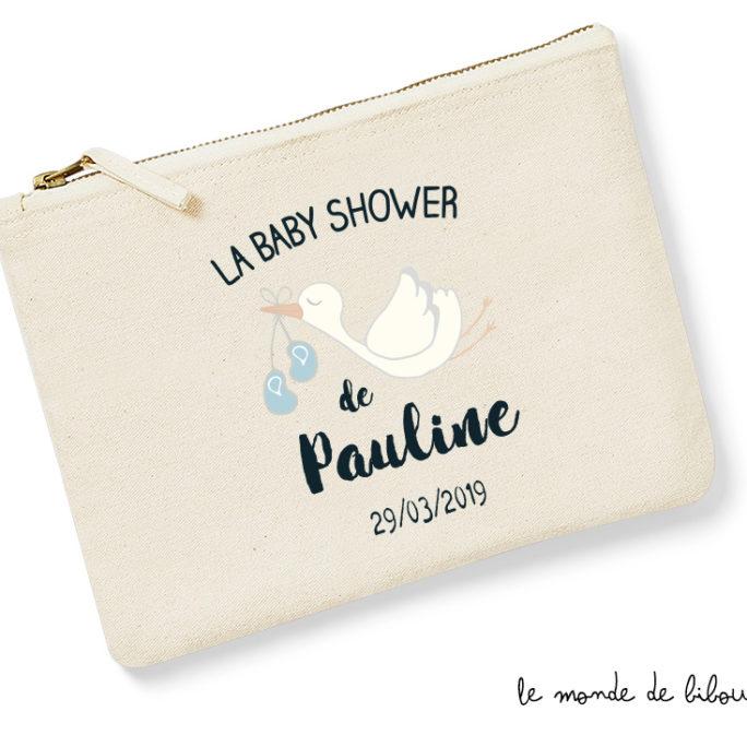 Pochette trousse personnalisée pour Baby Shower