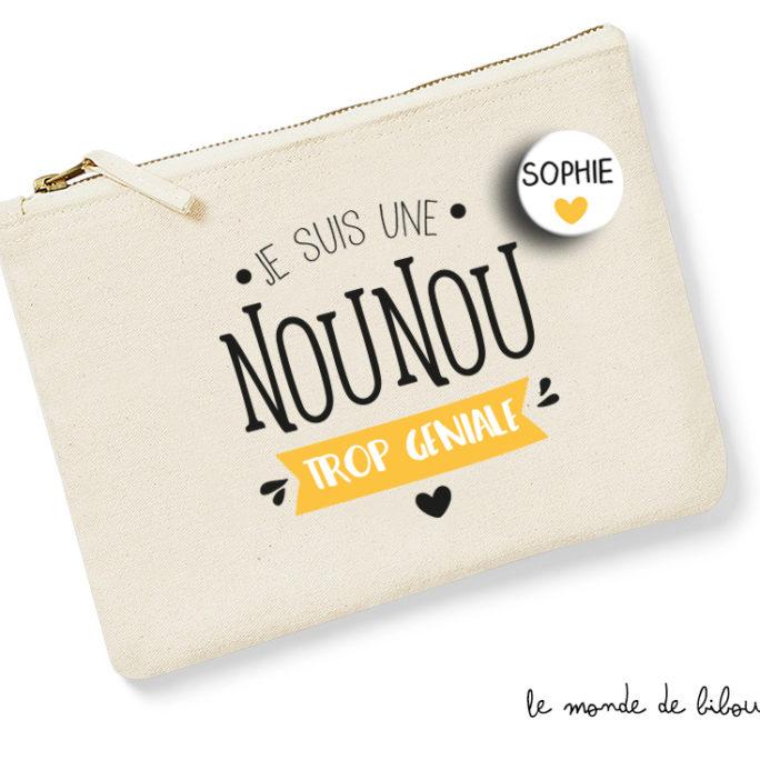 Pochette Nounou avec badge