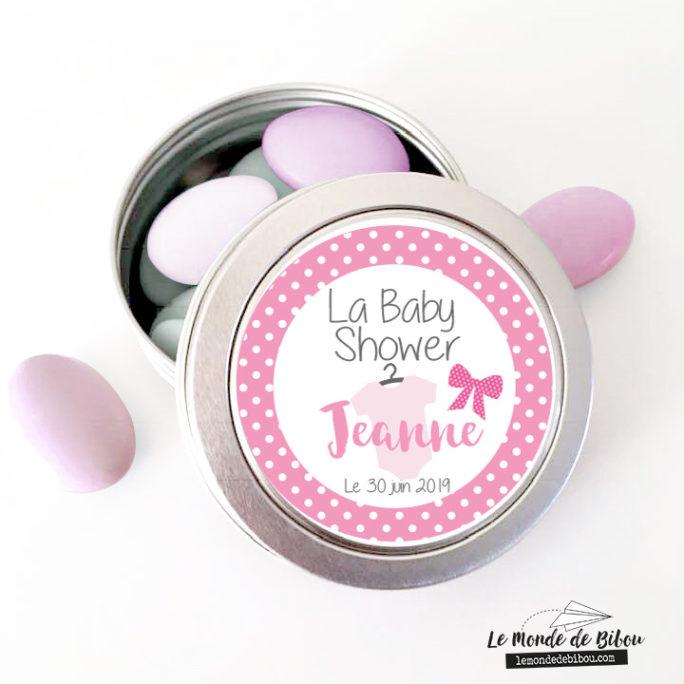 Boîte dragées Baby shower Petit body