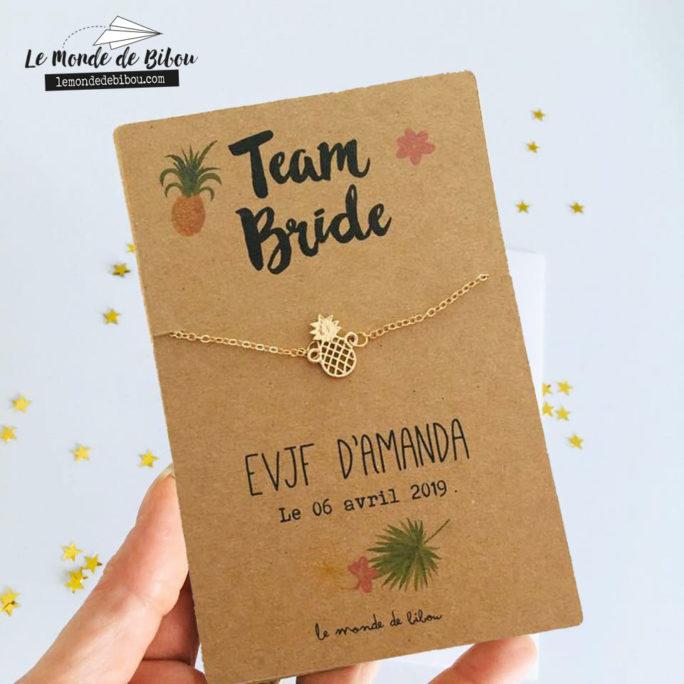 Carte bijou EVJF Tropical