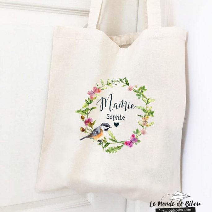 Tote bag Mamie Couronne de fleurs