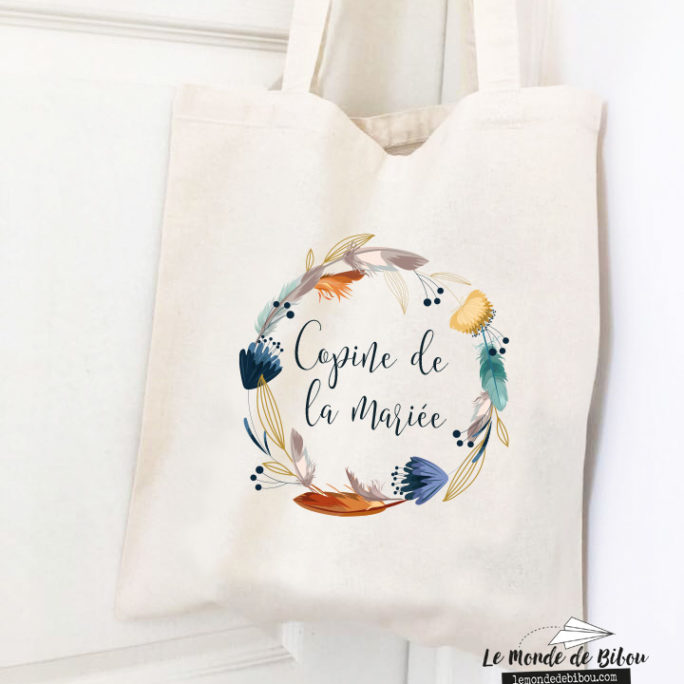 Tote bag style boho pour EVJF