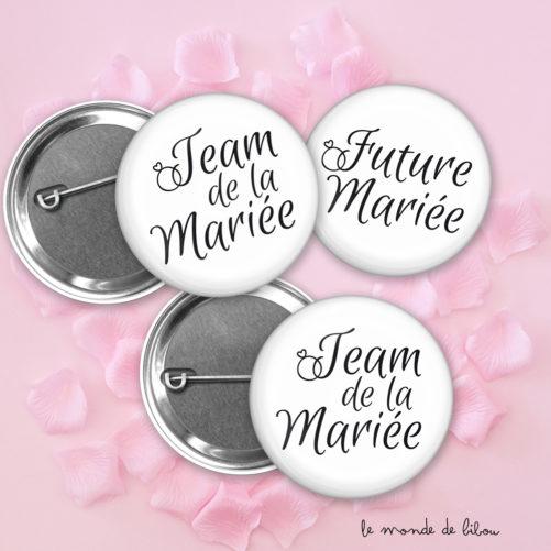 Lot Badges Mariage Alliance