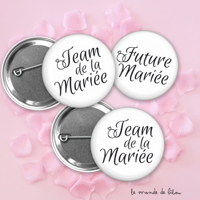 Lot Badges Mariage Alliance