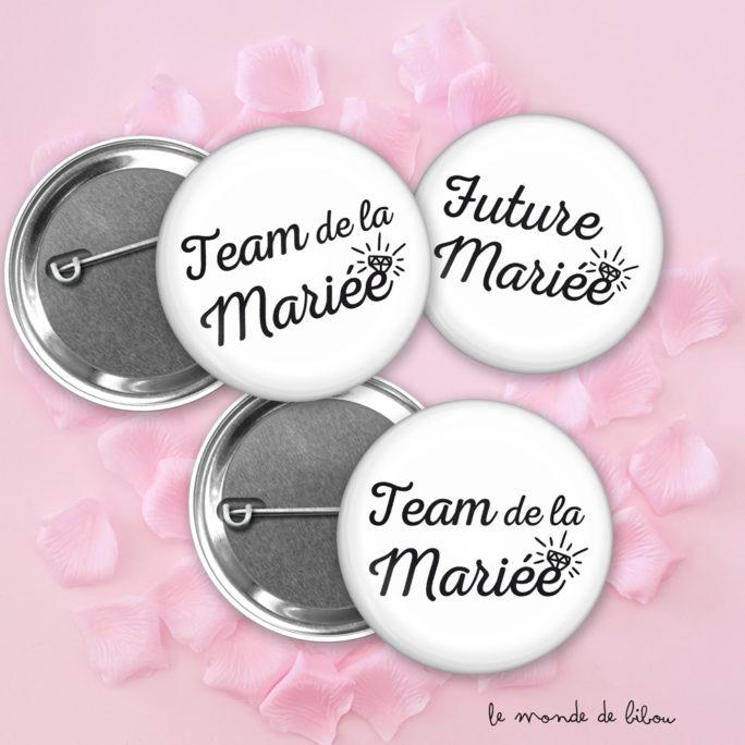 Lot Badges Mariage Bijou