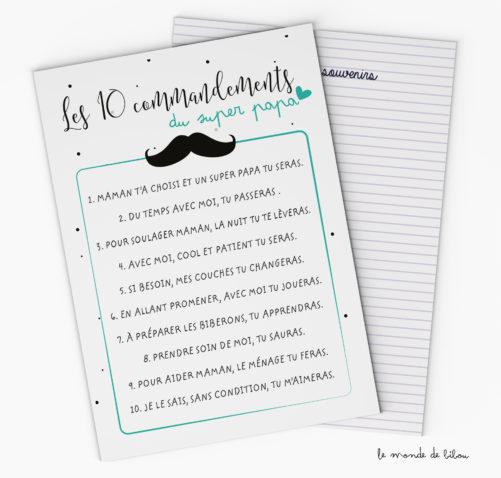 Les 10 commandements du Super Papa