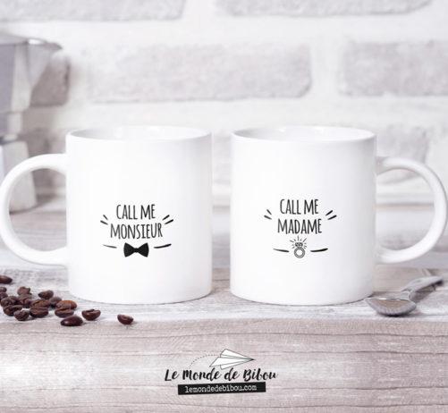 Duo de Mugs Call me Madame Monsieur