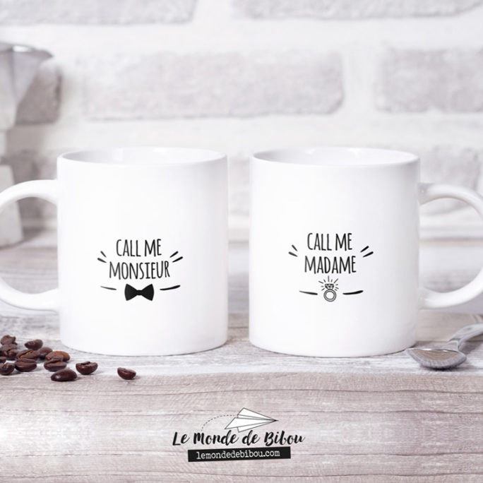 Duo de Mugs Call me Madame Monsieur