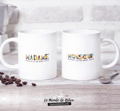 Duo de Mugs Mariage Graphic