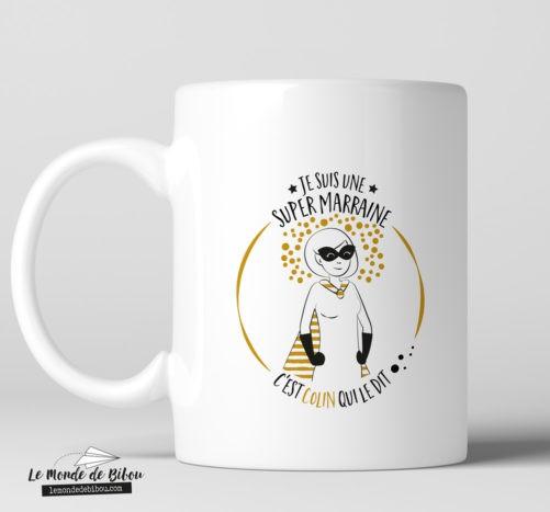 Mug personnalisable thème Super Marraine