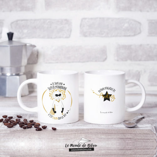 Mugs Super Parrain Super Marraine