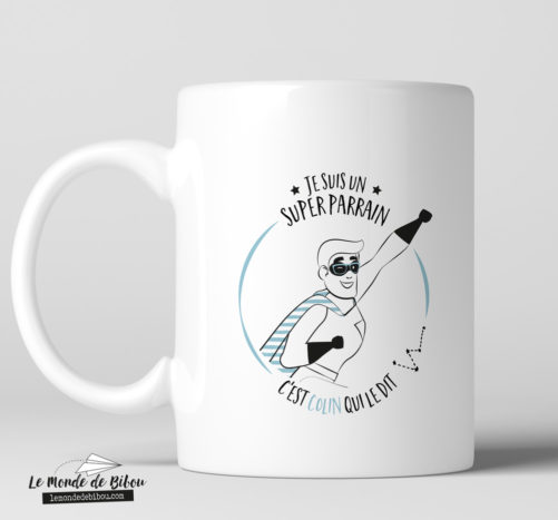 Mug personnalisable thème Super Parrain