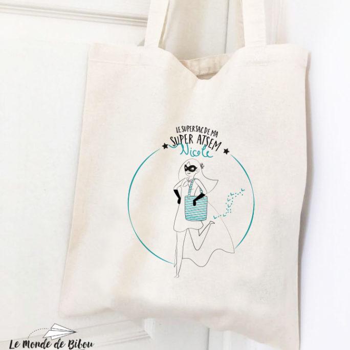 Tote Bag Atsem – thème Super Héros