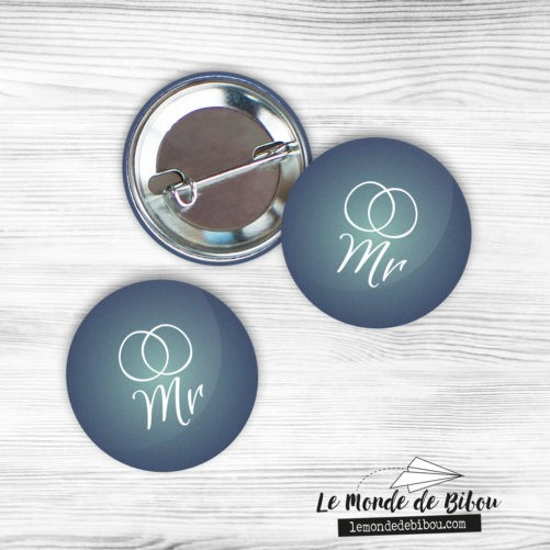 Badges MARIAGE LGBT Alliances version Hommes