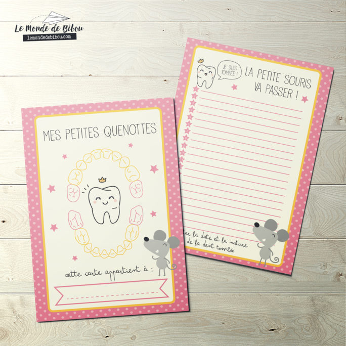 Carte Dents de lait Fille
