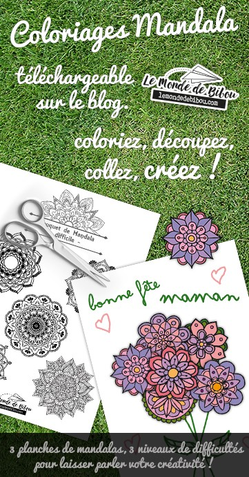 DiY Coloriages Bouquets de Mandalas