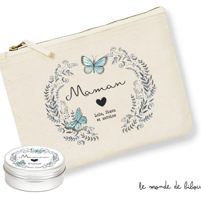 Pochette et Bougie Maman d'amour