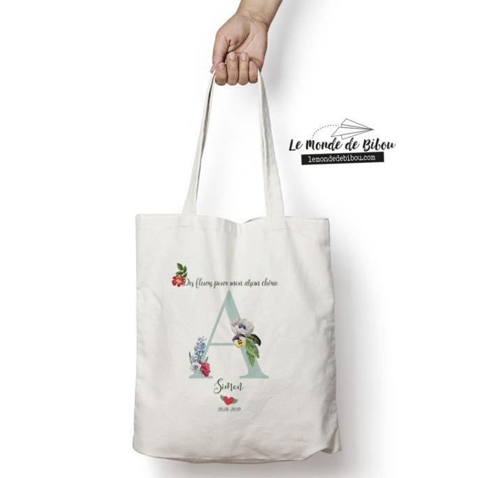 Tote bag Des fleurs pour mon Atsem