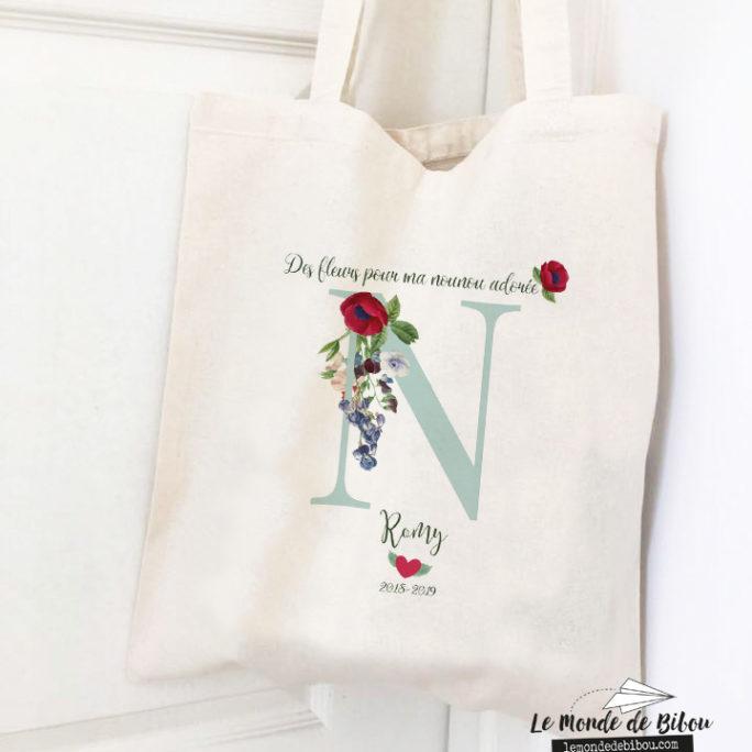 Tote bag Des fleurs pour ma Nounou
