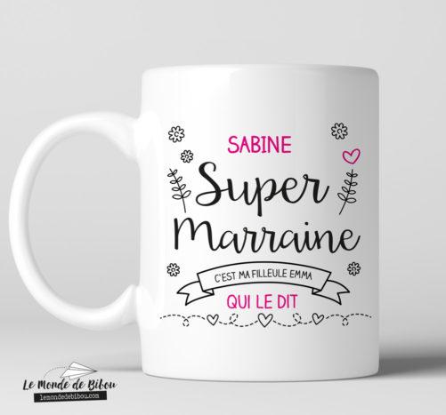 Mug personnalisable pour une Super Marraine