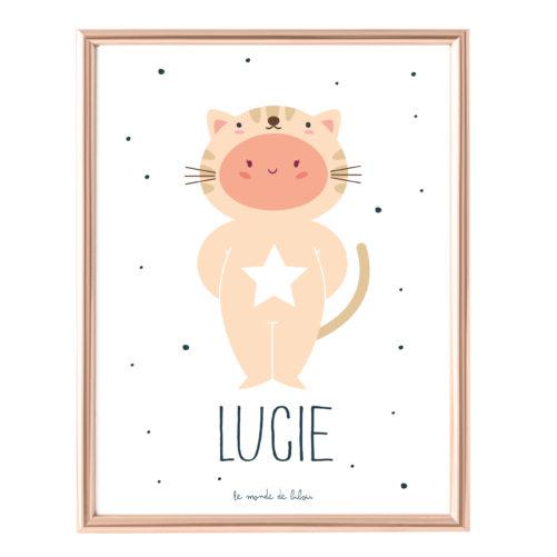 Affiche Prénom Mon Petit Chat