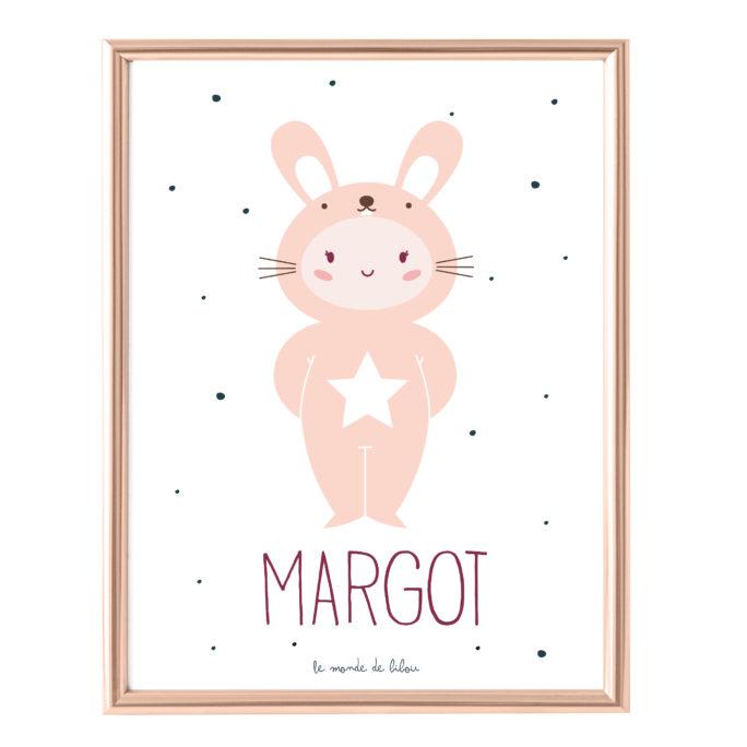 Affiche Prénom Mon Petit Lapin