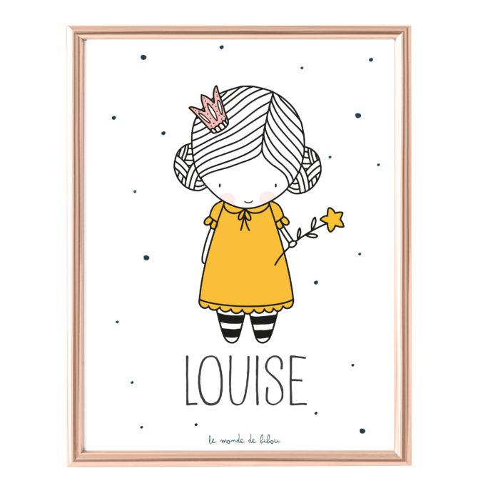 Affiche Prénom Petite Princesse