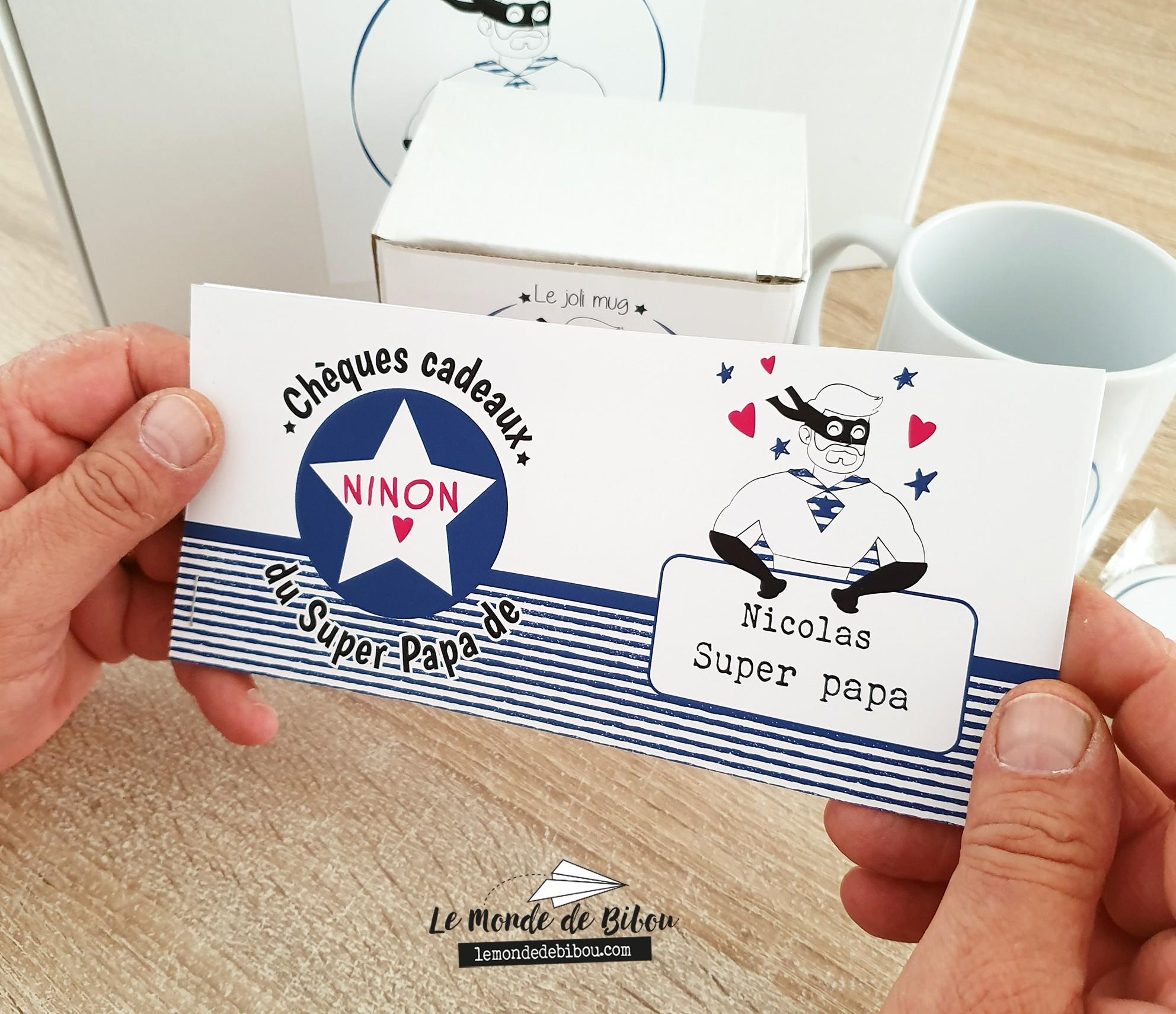 Boîte à Papa personnalisée Le Monde de Bibou - Cadeaux personnalisés
