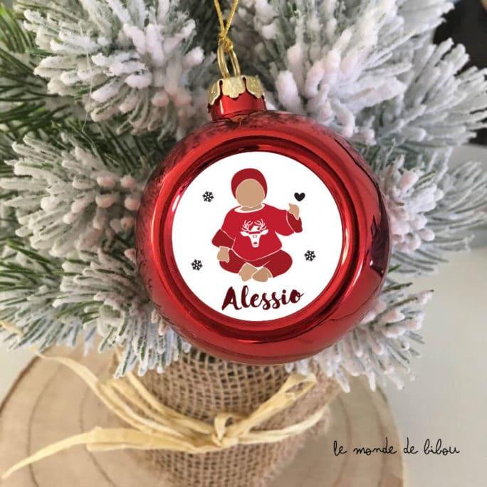 Boule de Noël personnalisée Bébé