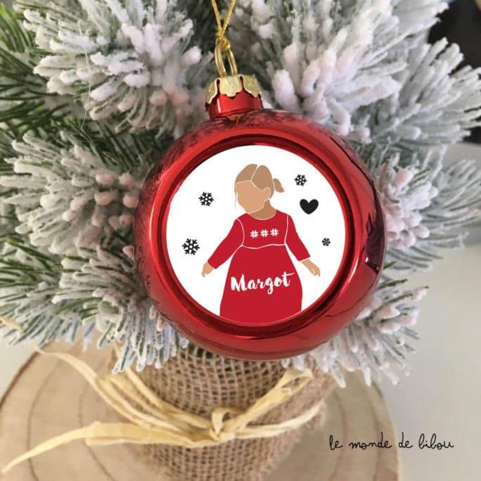 Boule de Noël personnalisée Fillette