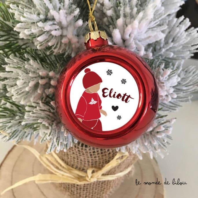Boule de Noël personnalisée Garçonnet