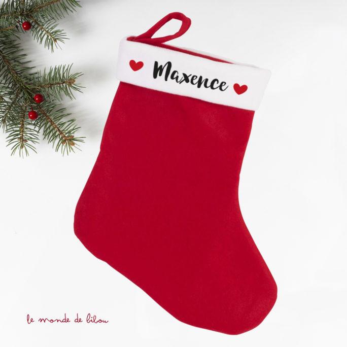 Botte de Noël chaussette personnalisée