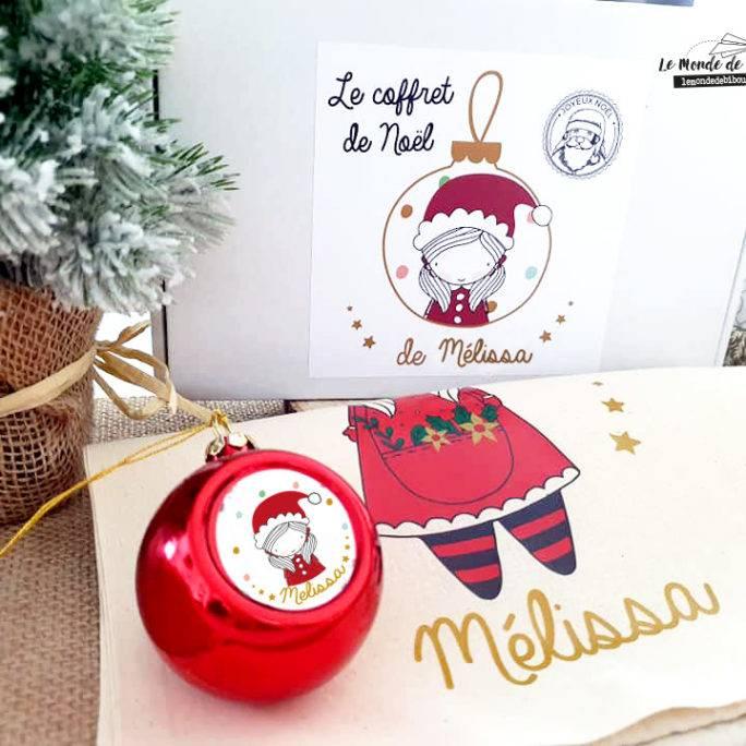 Coffret Hotte et Boule de Noël