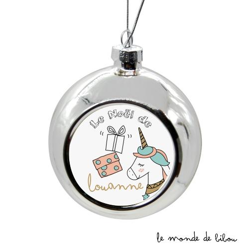 Boules de Noël En Famille Licorne