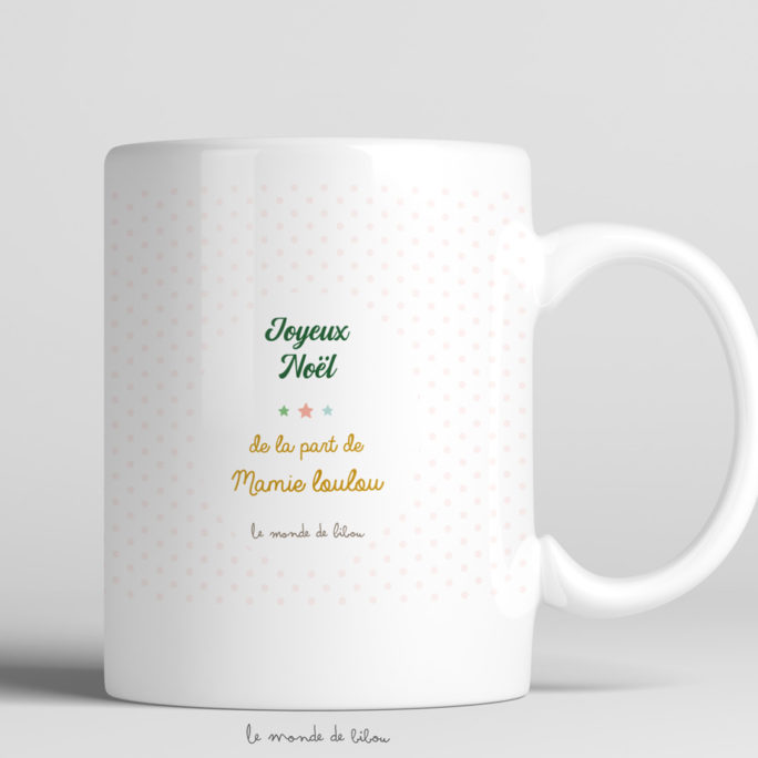 Tasse incassable Fillette Lutin de Noël